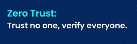 The zero trust principle