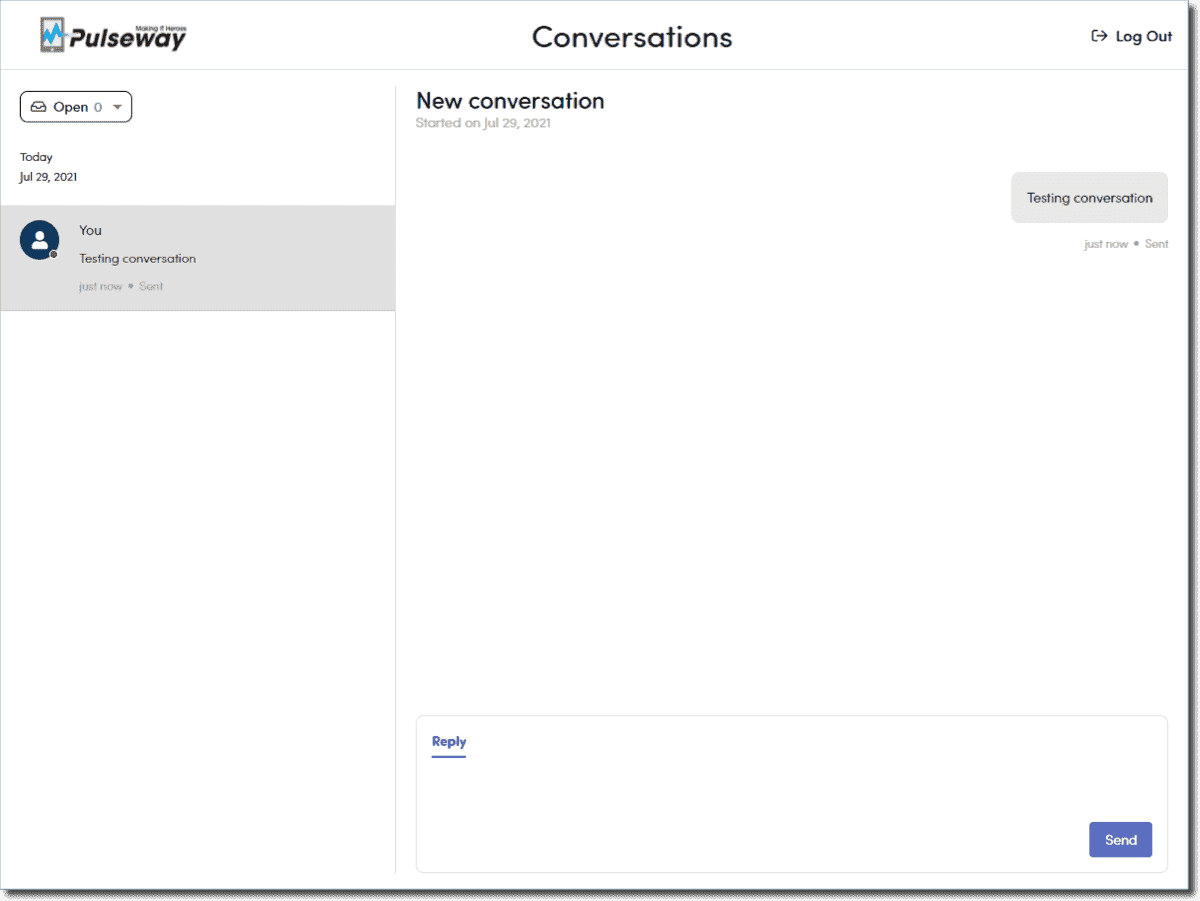 Creating a new conversation as an end user