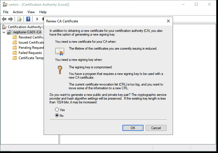 Generating a new signing key is only necessary in a few scenarios e.g. when it has been compromised