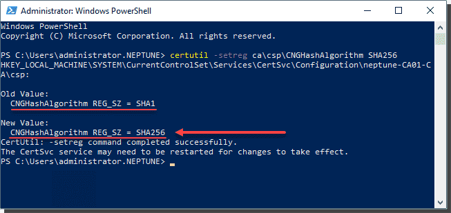 Migrate from SHA1 to SHA2