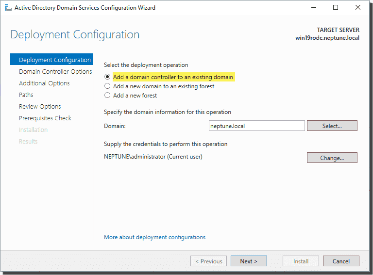Select your deployment configuration