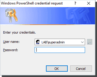 Set ADAccountPassword allows the use of alternative credentials