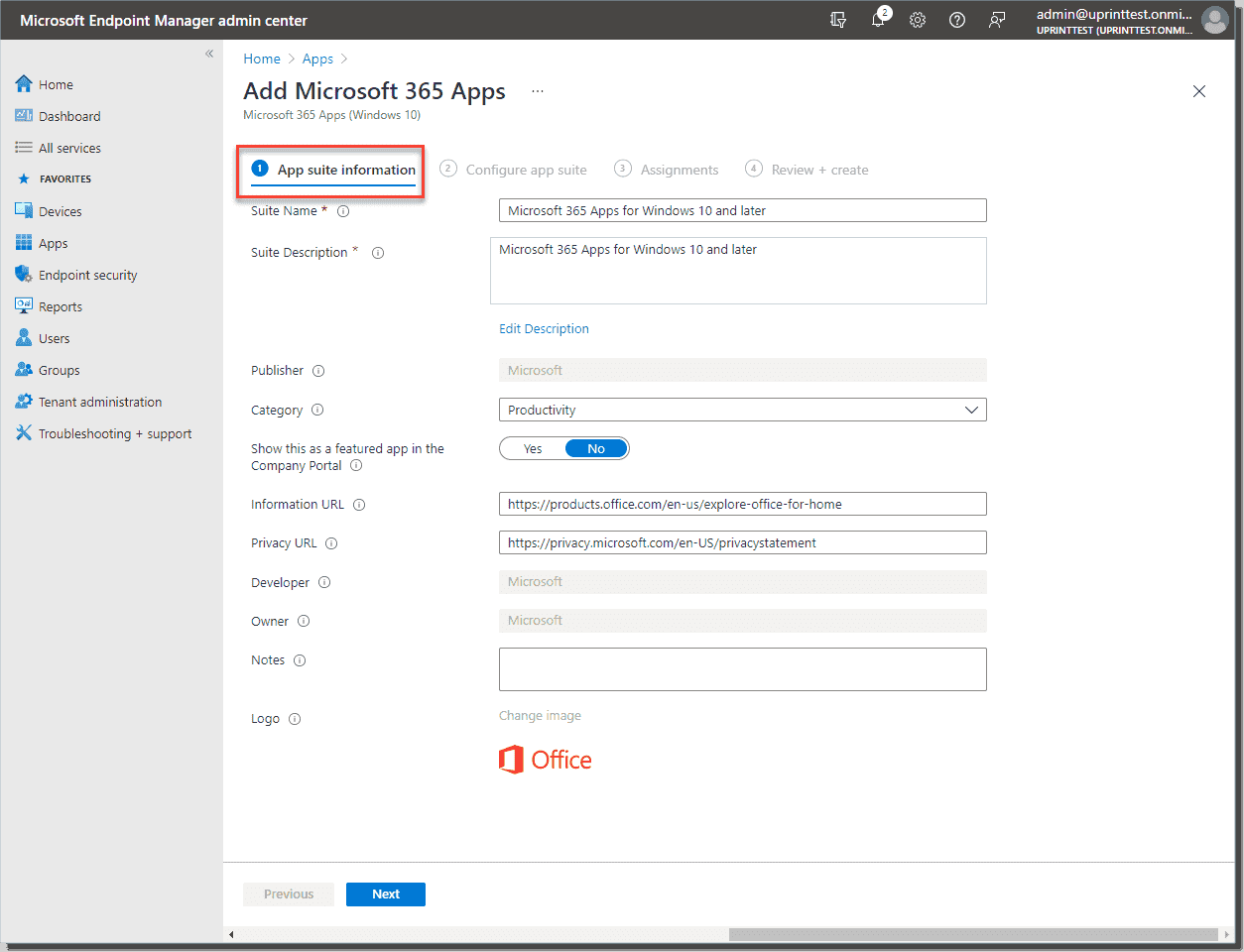 Deploying Microsoft 365 apps for Windows 10 and later