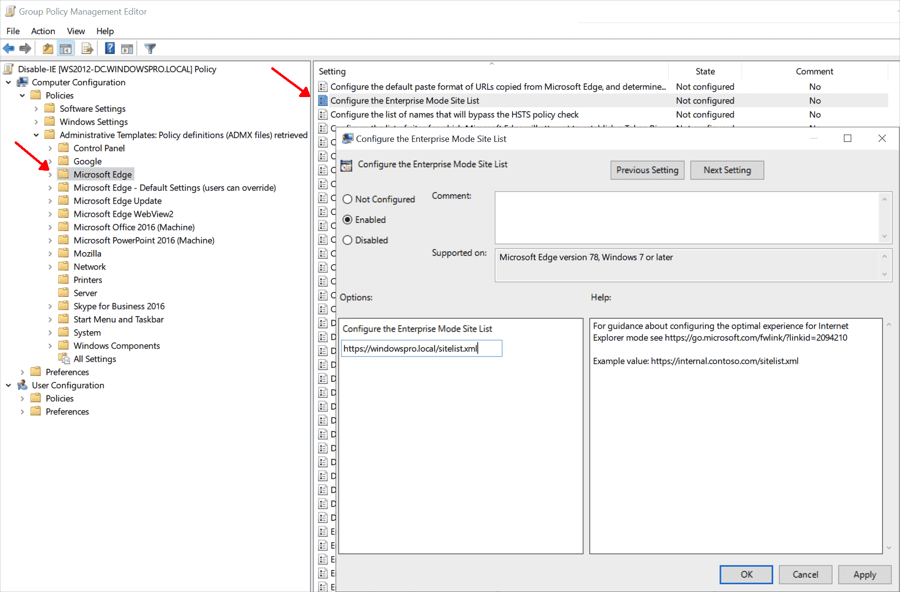 Distribute the list of URLs to be opened automatically in IE via GPO