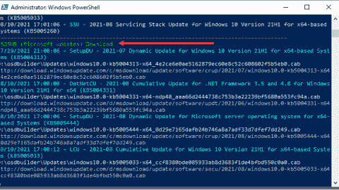 OSDBuilder pulls down updates to update the media created
