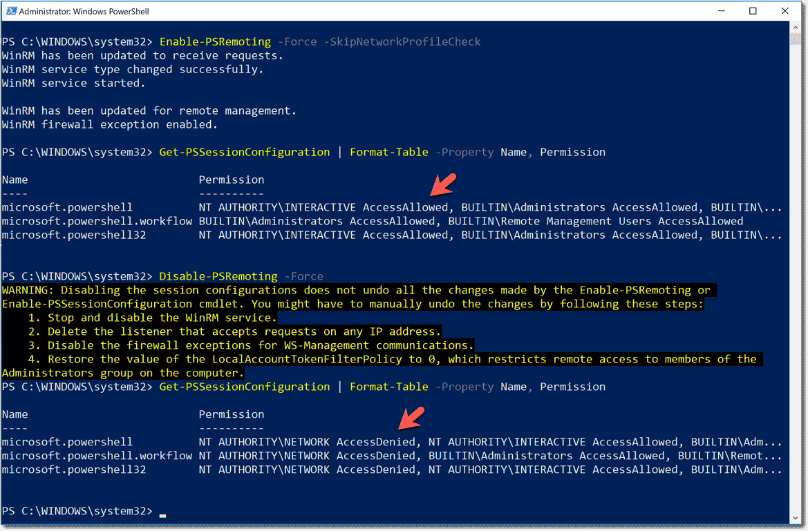 Disable PowerShell remoting: Disable-PSRemoting, WinRM