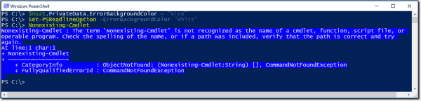 Changing the colors of error messages