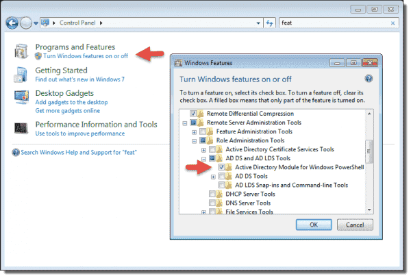 Active Directory Module for Windows PowerShell on Windows 7