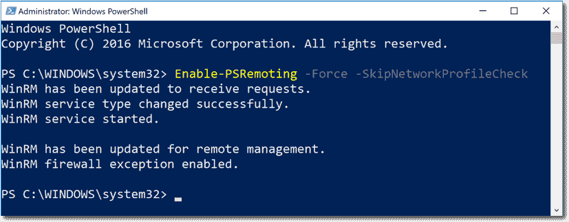 Enable PowerShell remoting – 4sysops